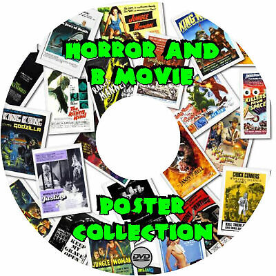 graphic about Printable Movie Poster referred to as 5800 HORROR AND B Video Posters upon 2 DVDs! All Significant Remedy Printable JPEGs