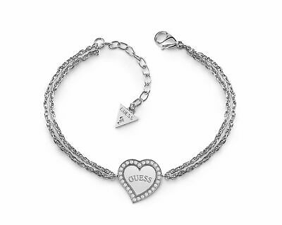 GUESS Braccialetto Heart Warming S Silver