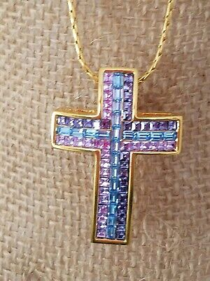 Other Entertainment Mem Jackie Collins Estate Cross Rosary Necklace Crystal Vintage Pendant Celebrity Jewelry & Watches