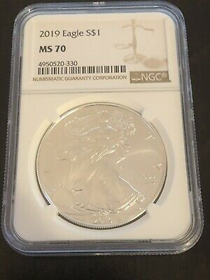 2019 $1 American Silver Eagle NGC MS70 Brown Label!!!!!!!!!
