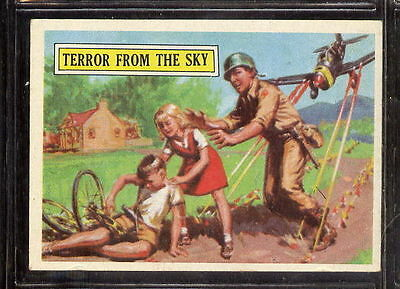 BATTLE Topps card #35 Terror from the Sky  NORM SAUNDERS WWII art  Nmt/MT *