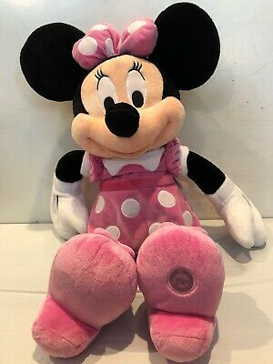 Disney Store Authentic Minnie Mouse Pink and White Plush 18 inches girls