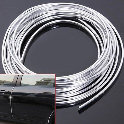 1pc 6M Chrome Moulding Trim Strip Car Door Edge Scratch Guard Protector Cover OT