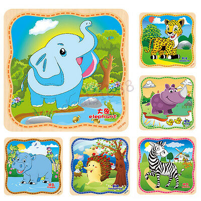 Wooden Puzzle Educational Developmental Baby Kids Training Toy Puzzle Xmas Gift