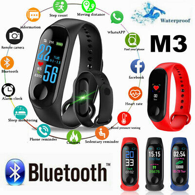M3 Smart Watch Band Bracelet Wristband Fitness Tracker Blood Pressure HeartRate