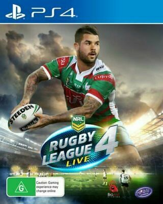 Rugby League Live 4 PS4 Playstation 4 Brand New Sealed