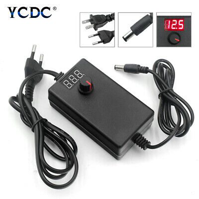 Adjustable Power Supply Charger Ac/Dc 1-36V 24-72W Adapter Plug Led Strips Light