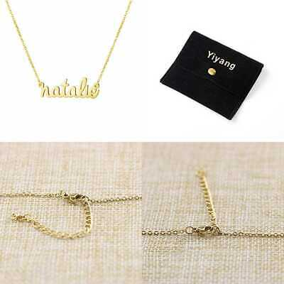 Name Necklace 18K GOLD Plated Stainless Steel Pendant Jewelry Birthday Gift For