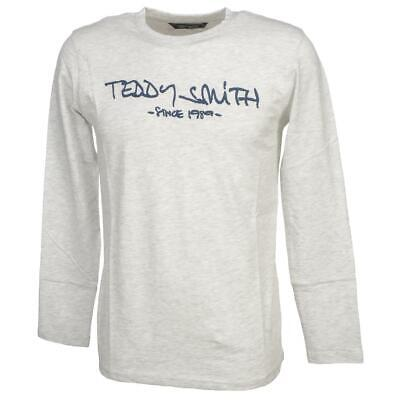 Tee shirt manches longues Teddy smith Ticlass 3 wht mel ml tee Blanc 59452 - Neu