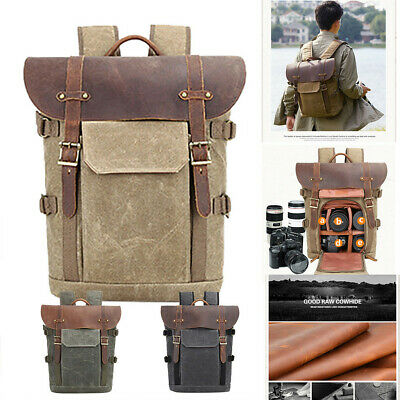 Waterproof Shockproof Vintage Photography Backpack Photography Canvas Bag Cover