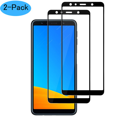 2PCS For Samsung Galaxy A7 2018 3D Full Cover Tempered Glass Screen Protector US