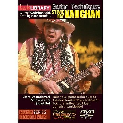 NEW Lick Library Learn To Play Stevie Ray Vaughan Guitar Techniques DVD
