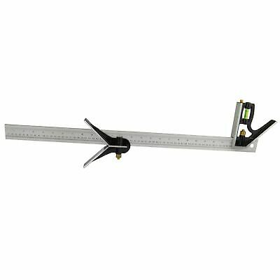 600mm Engineers Combination Try Square Set Right Angle Spirit Level 24inch TE7