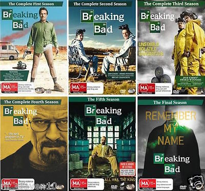 BREAKING BAD Complete Series: 1 2 3 4 5 + THE FINAL SEASON : NEW 6-DVD