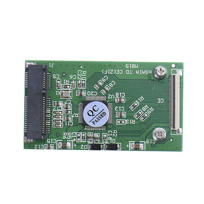 "Mini PCI-E 3.3V mSATA 1.8"" SSD to 40pin ZIF Card CE Cable Adapter Converter"