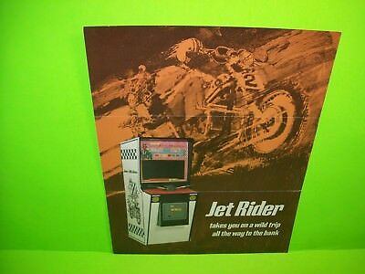 Bally 1970 JET RIDER Original Vintage Arcade Game Flyer Motorcycle Race Driver