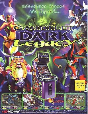 Atari GAUNTLET DARK LEGACY Original 2000 NOS Video Arcade Game Promo Sales Flyer