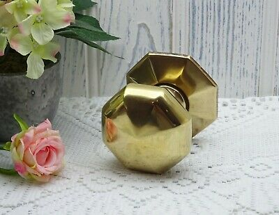 Vintage brass central door pull, large octagonal brass centre door knob, salvage