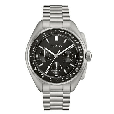 Bulova Men's Watch Lunar Pilot Analogue Chronograph with Steel Band 96b258