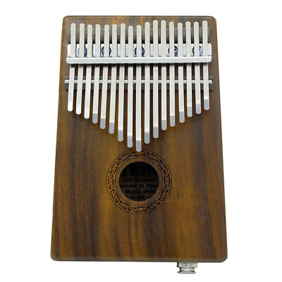 17-key EQ Thumb Piano Kalimba Solid Acacia Built-in Pickup w/Speaker I/F X4A1