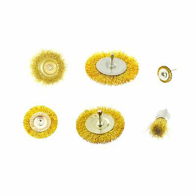 Steel Wire Metal Wheel / Rotary Cup Brush Crimped Set Rust Paint Removal AU011