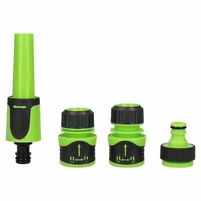 Garden Hose Tap Connector Accessory Fitting Water Sprayer Nozzle 4pc Soft Grip