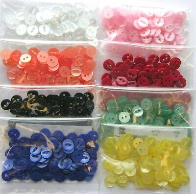 Round Fish Eye Buttons ( Choice Of Size Quantity & Colour ) 16s 18s 22s 26s 30s