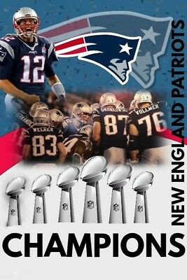 New England PATRIOTS TOM BRADY 6x Super Bowl Champions FRIDGE Magnet 2.5