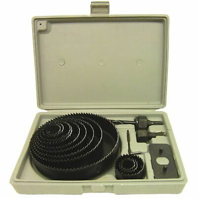 16pc Circle Hole Saw Round Cutter Drill Kit with Arbor and Storage Case TE110