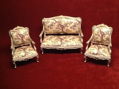 Fine 12Th Scale Dolls House Alison Davies Toile 18Th Century Sofa Caraccident5 Cool Chair Designs And Ideas Caraccident5Info