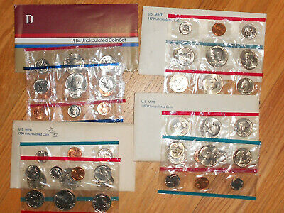 1979,1980 (2 SETS) AND 1984 US Mint SetS Uncirculated Coin Collection both P & D
