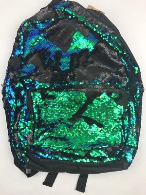 585de3b538 STYLE.LABS MAGIC SEQUIN Backpack Mermaid Green   Black 76466 ~ FREE ...