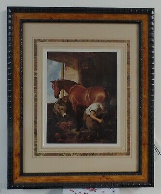 """Shoeing the Bay Mare"" Print by Sir Edwin Landseer 12x15 Wooden Frame (#118)"