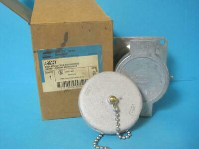 New Crouse Hinds Arktite Pin & Sleeve Receptacle Housing w/Spring Door AR632 T