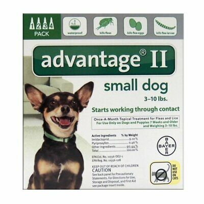 Bayer  Advantage II  0.056 oz. Flea and Tick Drops For Dogs and Puppies  Liquid