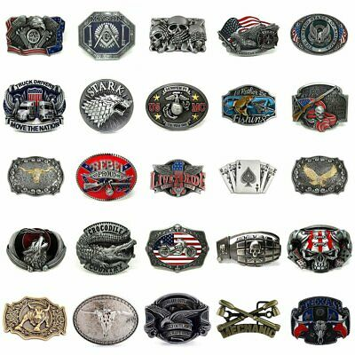 Retro Novelty 3D Patterns Metal Mens Vintage Belt Buckle Replacement 38mm 40mm
