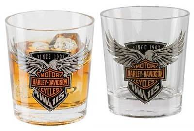 Harley-Davidson 115th anniversary Double old Fashioned Glasses Set HDX-98701