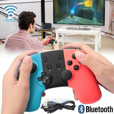 Bluetooth Wireless Gamepad Joypad Remote Controller fr Nintendo Switch Blue/Red