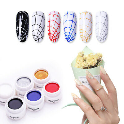 Harunouta 5g Elastic Gel Polish Soak Off UV Gel Colorful Nail Art Gel Varnish