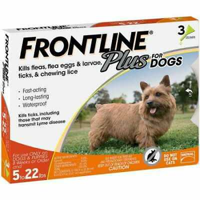 Frontline Plus for Dogs 022 lbs ORANGE 3 MONTH
