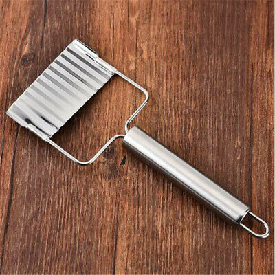 Stainless Steel Vegetable Wavy Cutter Slicer Chips Corrugated With Handle LG