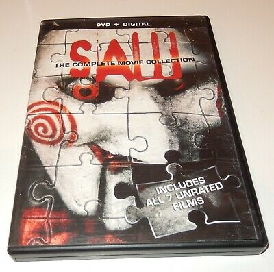 Saw: The Complete Movie Collection/ All 7 Unrated Films (DVD, 2014, 4-Discs) WS