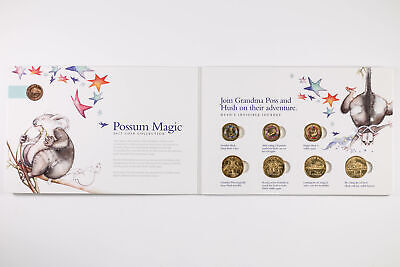 2017 Australian Possum Magic 8 Coin Set 3x $2, 4x $1 & 1x 1c Carded Coin Set