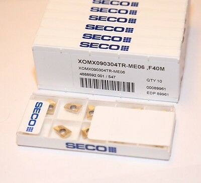 218.19-100T-M06 F40M SECO ** 10 INSERTS *** 1 FACTORY PACK ***