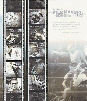 Scott #3772 American Film Making Behind the ScenesSheet of 10 x 37 Cent Stamps
