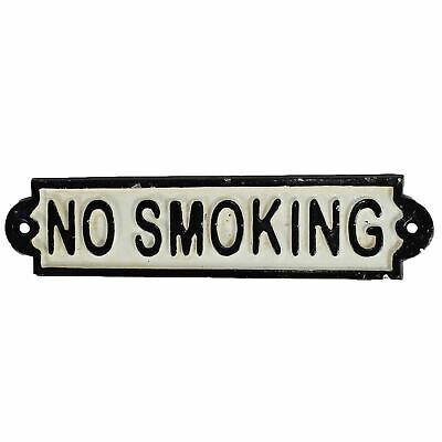 No Smoking Cast Iron Sign Plaque Door Wall Fence Post Cafe Shop Pub Hotel Bar