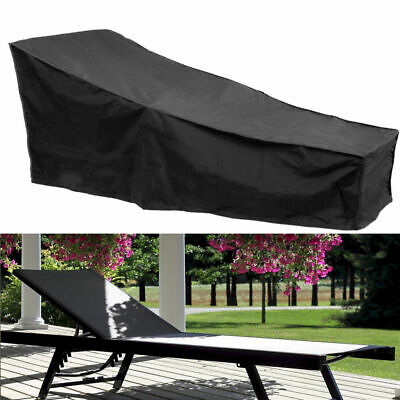 2X Sun Lounger Bed SunBed Cover Rain Dust Protector For Patio Garden Outdoor UK