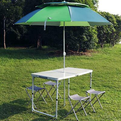 Kitchen Dining Garden Outdoor Picnic Camping Folding Portable 4 Chairs Table Set