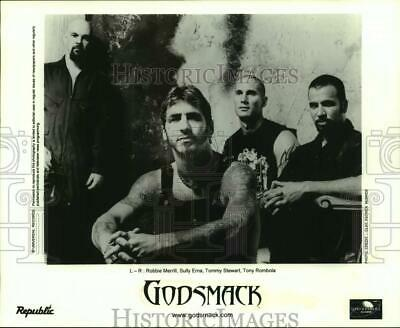 Press Photo Four Members of the rock band Godsmack in portrait - sap06924
