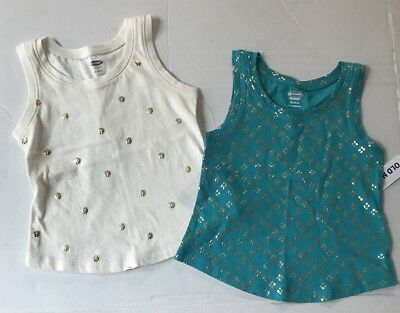 93fb0fb471a38 NEW GIRLS OLD Navy Tank Tops Size 18-24 Months -  2.99